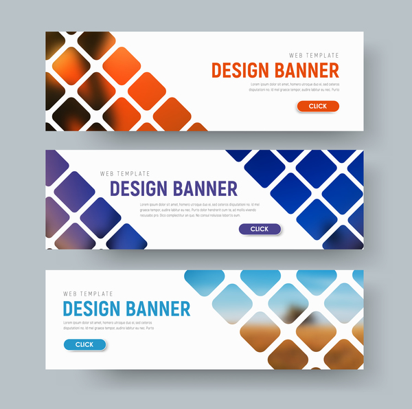 Web banners shapes vector material 02