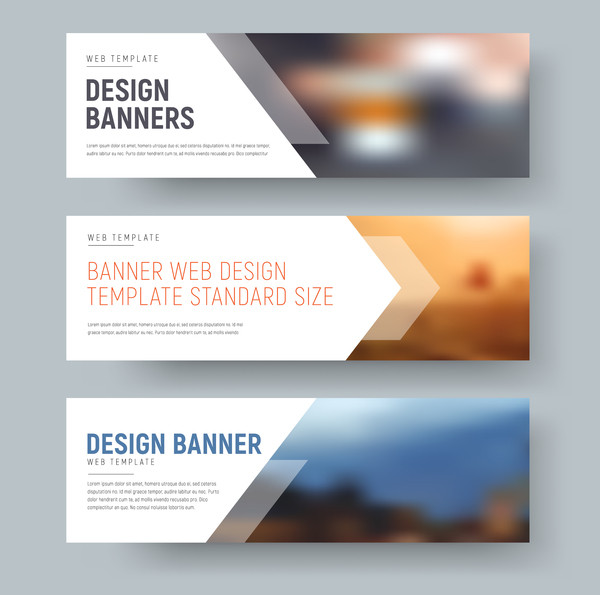 Web banners shapes vector material 03