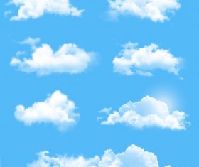 White cloud design vectors set 01