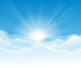 Wide sky panoramic background vector