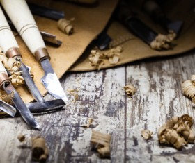 Woodworking engraving tool Stock Photo 01