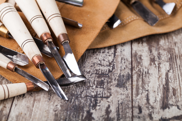 Woodworking engraving tool Stock Photo 02