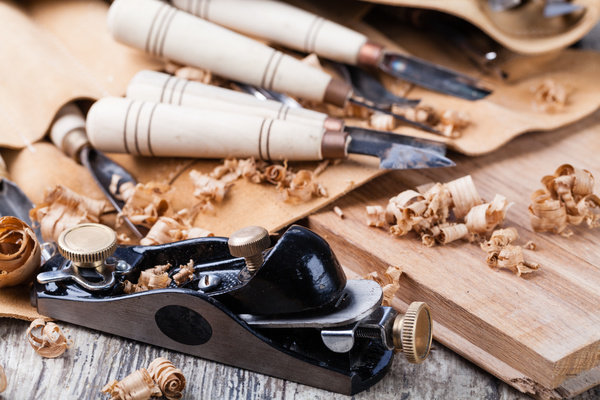 Woodworking engraving tool Stock Photo 03