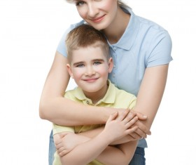 Young beautiful mother with children Stock Photo 01
