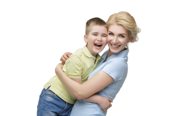 Young beautiful mother with children Stock Photo 02