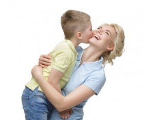Young beautiful mother with children Stock Photo 03