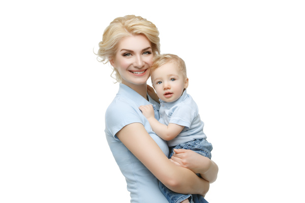 Young beautiful mother with children Stock Photo 07