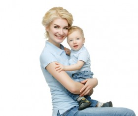 Young beautiful mother with children Stock Photo 08