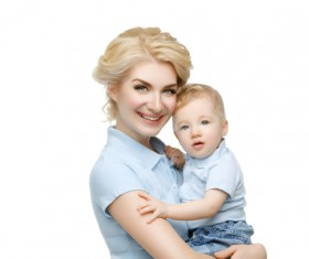 Young beautiful mother with children Stock Photo 09