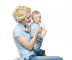 Young beautiful mother with children Stock Photo 10