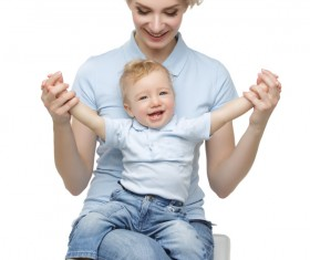 Young beautiful mother with children Stock Photo 11