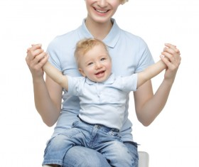 Young beautiful mother with children Stock Photo 12