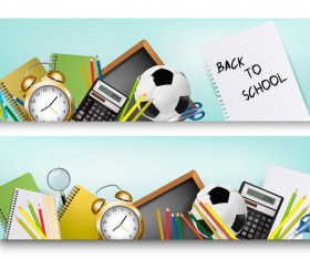 back to school banners vector 02