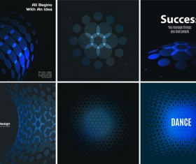 blue tech with black background vector 04