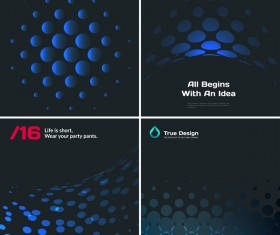 blue tech with black background vector 06