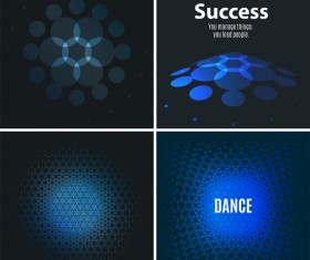 blue tech with black background vector 08