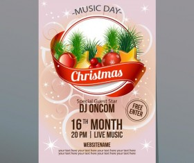 christmas night poster template vectors material