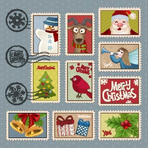 Christmas Postage Stamps - Christmas Decore