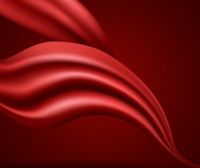 cloth flow with red dark background vector