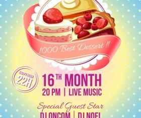 dessert festival poster vector template