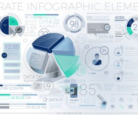 detailed corporate infographic template vector 02
