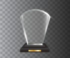 fan-shaped acrylic glass trophy award vector