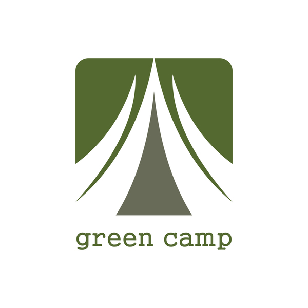 green camp vector logo vector