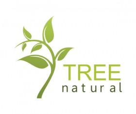 green tree natural logo vector