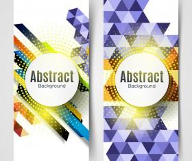 halftone geometric vertical banners vector 01