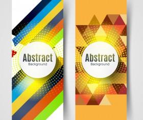 halftone geometric vertical banners vector 02