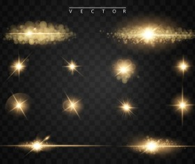 light effect with star light illustration vector