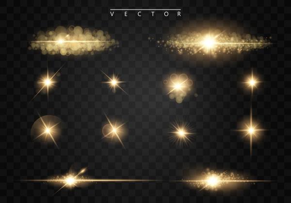 light effect with star light illustration vector