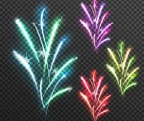 light effects fireworks transparent illustration vector