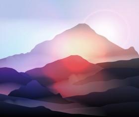 mountain sunrise landscape nature background vector 02