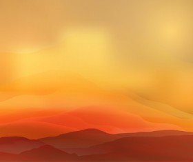 mountain sunrise landscape nature background vector 04