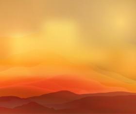 mountain sunrise landscape nature background vector 04