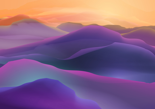 mountain sunrise landscape nature background vector 05