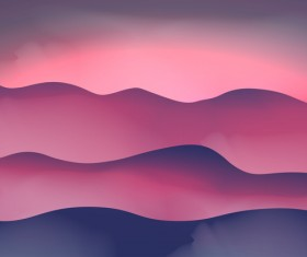 mountain sunrise landscape nature background vector 10