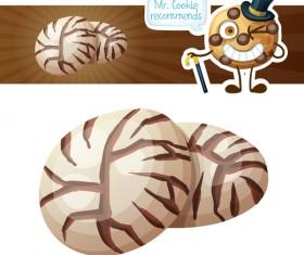 mushroom cookies vector
