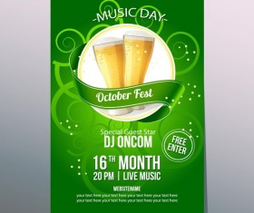 october fest night poster vector template