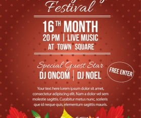 thanksgiving festival poster template vector