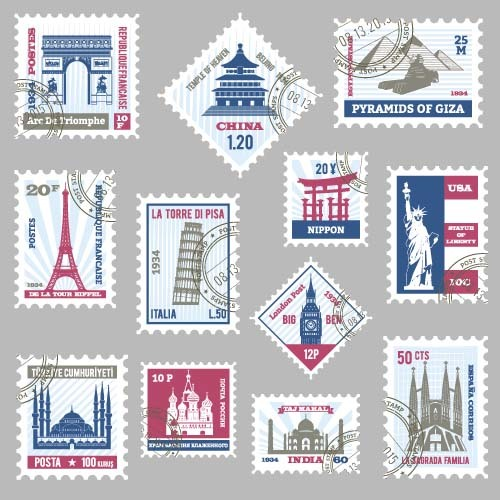 stamps template