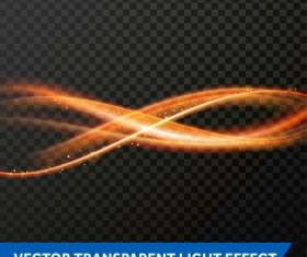transparent light wavy effect vectors