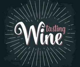wines tasting chalkboard background vector