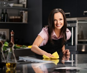 young woman who cooks in the kitchen Stock Photo 10