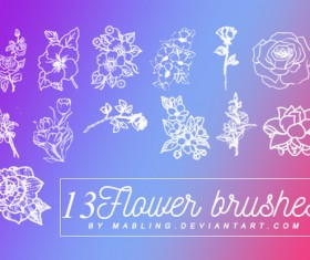 13 Kind Flower Photoshop Brushes