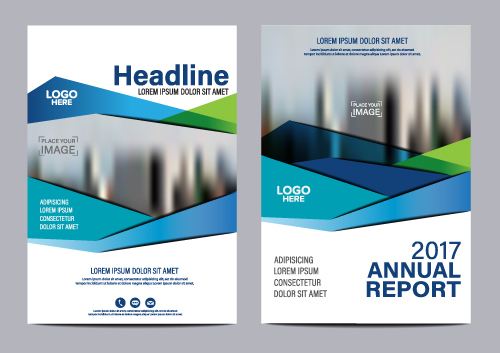 Company Flyer Template Blue Vector   Vector Cover Free Download