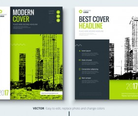 2017 modern company cover vector