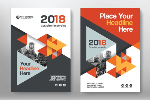 Flyer And Cover Brochure Template Vector Vector Cover - Flyer brochure templates