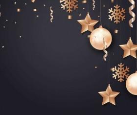 2018 new year dark background with confetti festival vector 01